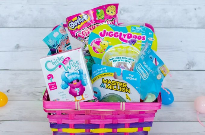 Easter Basket of Squishy, Collectible, and Interactive Toys for Boys and Girls