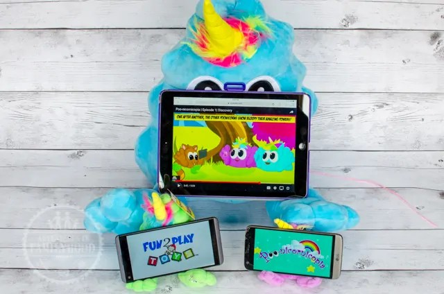 Poonicorns Plushiez double as Phone Tablet Holders