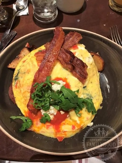Bon Voyage Breakfast at Trattoria al Forno Tangled Eggs
