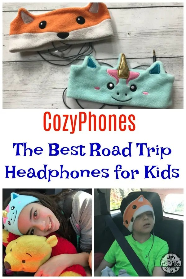 CozyPhones are the cutest, most comfortable headphones for kids. They are a road trip must!