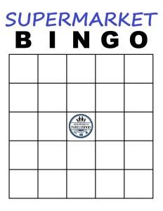 Supermarket Bingo Blank