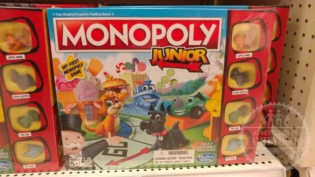 monopoly junior game on store shelf