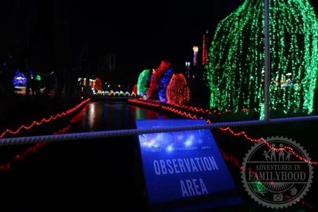 Observation Area for NOEL light show at Hersheypark