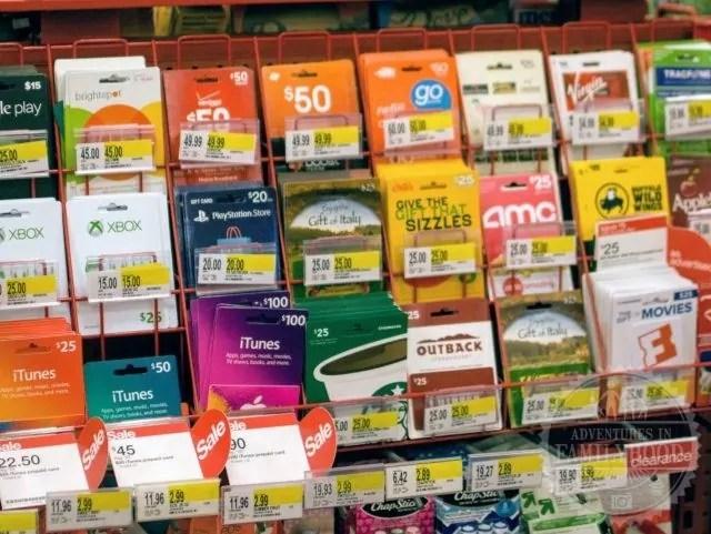 Gift Card Rack at Target