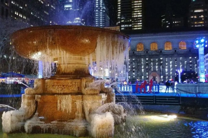 bryant park fountain winter nyc must-see week