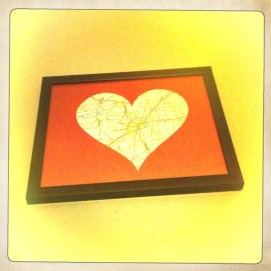 Little Rock Heart Framed and Hung