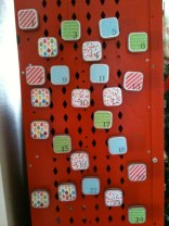 Our first Christmas tradition - A magnetic advent calendar