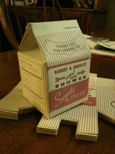 Customized favor milk cartons