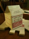 Customized favor milk cartons