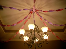 Sewn streamers by my dear friends J. Erwin and Chuck