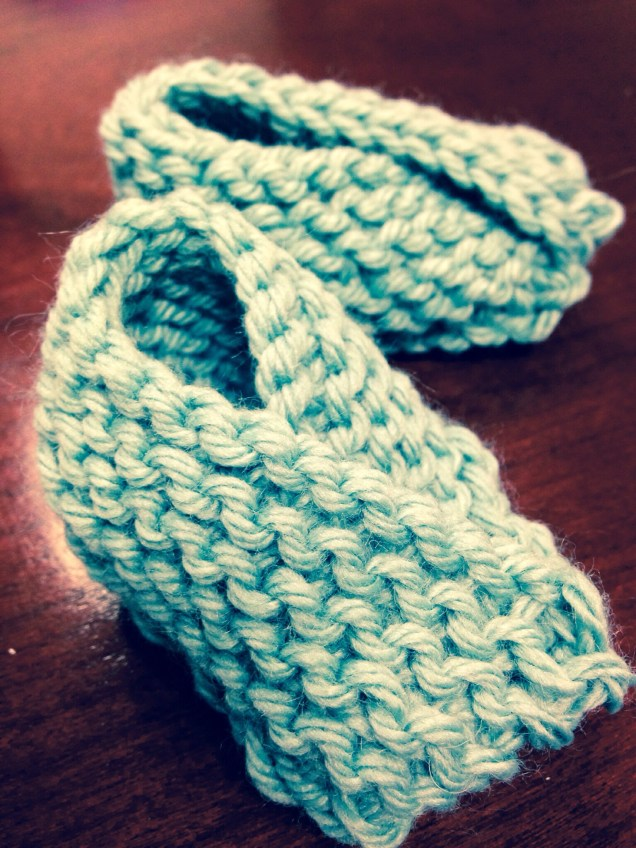 Chaussons mignons in light blue