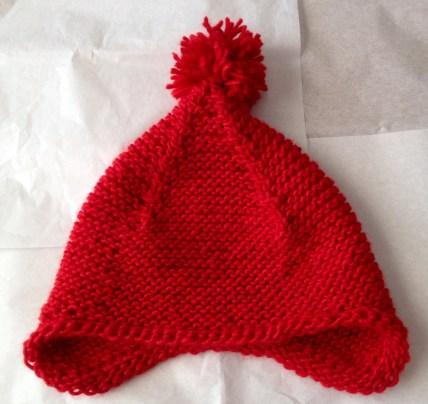 Little Pom-pomed Earflap hat