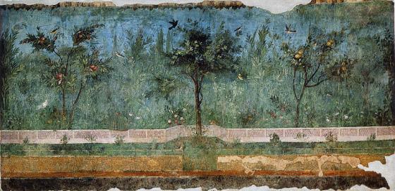 Garden Fresco from the Villa of Oplontis