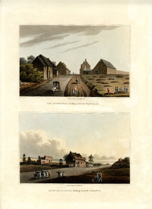 Near contemporary sketches of the crossroads and the farm, prominent onnthe right. See link below for details.