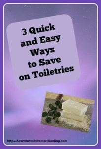 save on toiletries