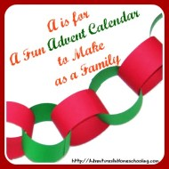 A is for A Fun Advent Calendar to Make as a Family