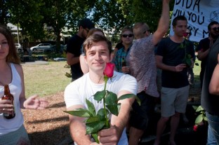 Our wonderful friend, Japes, got a whole heap of roses, both for the proposer himself and for the rest, like Bubbles, a handsome flower boy.