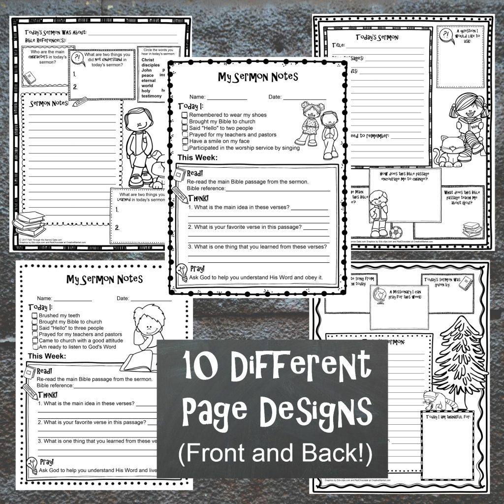 Easy To Use Sermon Notes For Kids That You Can Print Off At Home