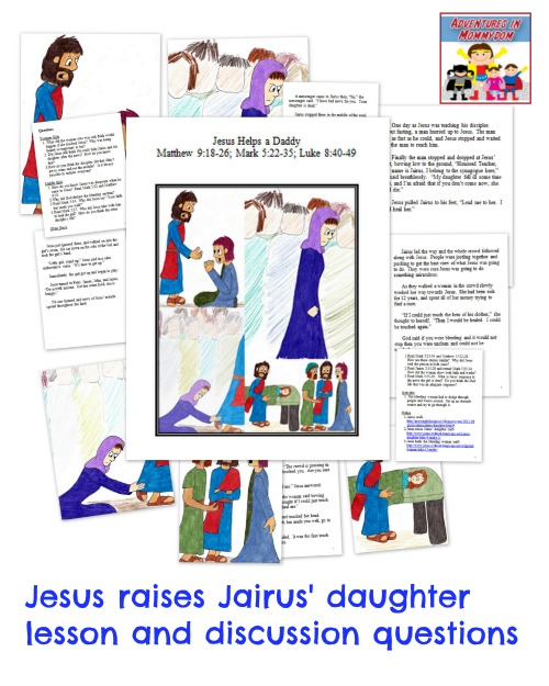 Activity Jesus Raises Jairus Daughter Coloring