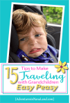 Kid making scared face while riding in a car - Adventures in NanaLand