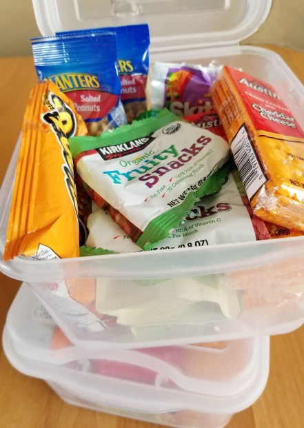 Snack boxes - traveling with grandchildren - Adventures in NanaLand