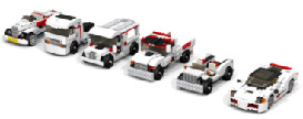 7 Lego cars all rebuilt from the same set - Lego - Adventures in NanaLand