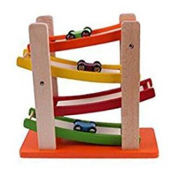 Wooden Race Car Track - Non-electronic toys - Adventures in NanaLand