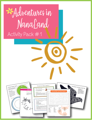 Activity Pack #1 with printables for long distance grandkids - Adventures in NanaLand