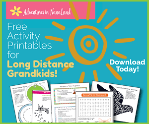 Activity Printables for Long Distance Grandkids - Adventures in NanaLand