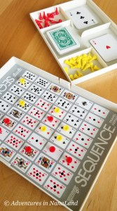 Sequence board game - Best Games for Families to Play Together - Adventures in NanaLand