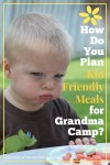 Planning kid friendly meals for grandma camp - Adventures in NanaLand
