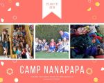 Scrapbook page of summer camp 1 - Grandma Camp Memories - Adventures in NanaLand