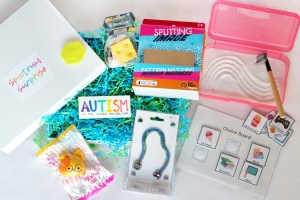 Box of sensory activities for autistic kids - Spectrum Sense for Moms
