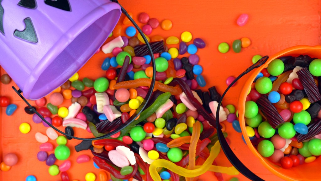 Halloween candy - Social Distancing Halloween Ideas for Grandparents - Adventures in NanaLand