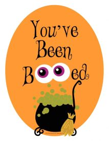You've Been Boo-ed printable - Social Distancing Halloween Ideas for Grandparents - Adventures in NanaLand