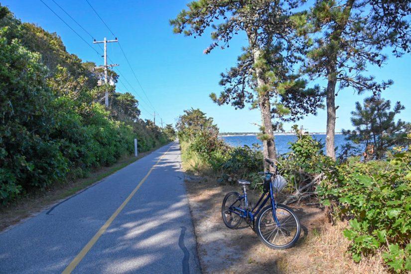 ocean side bike ride on Cape Cod