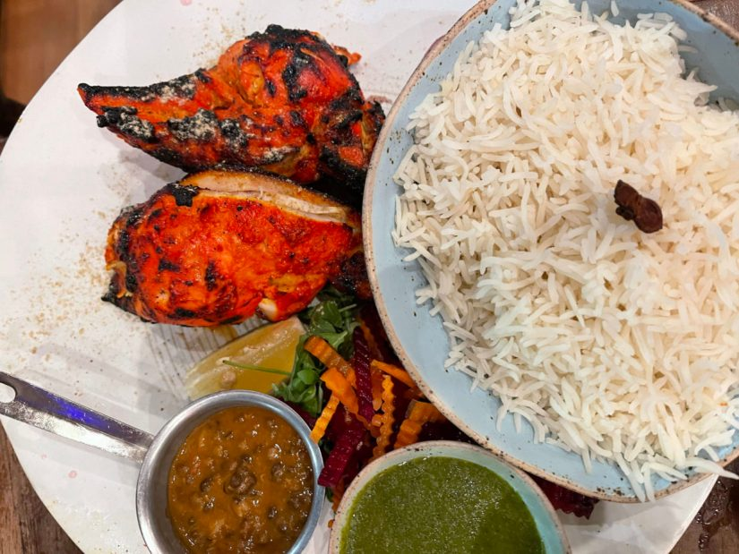 Indian food in Rhode Island with outside dining
