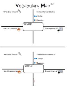 K-3 Vocabulary Maps *Freebie*
