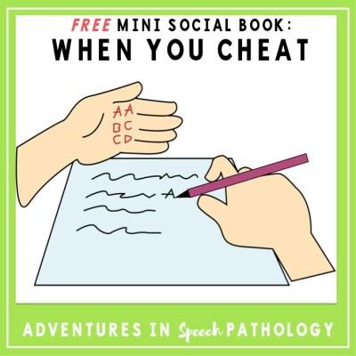 Mini Social Book: When You Cheat *Freebie*