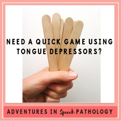 Need a Quick Game Using Tongue Depressors?