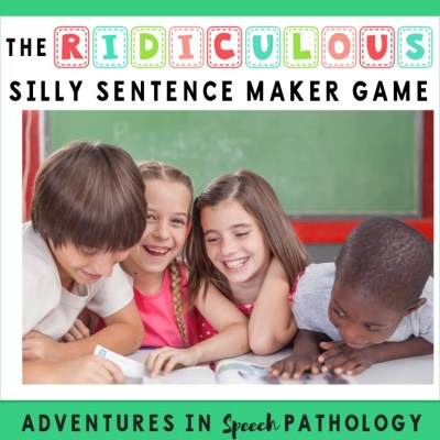 The (ridiculous) Silly Sentence Maker Game