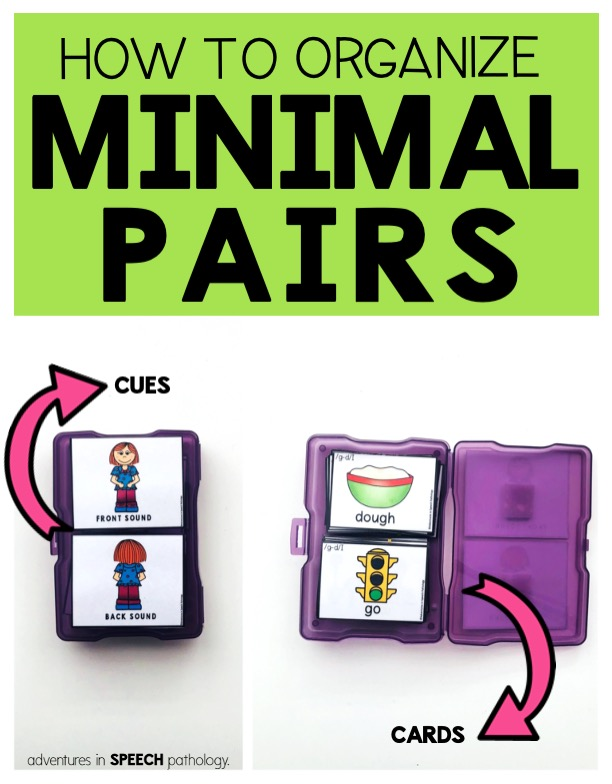 How to organize minimal pairs