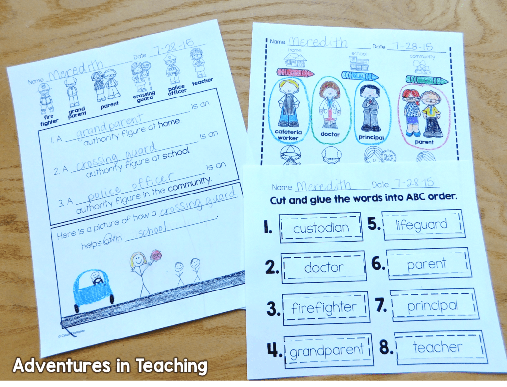 Authority Figures In First Grade