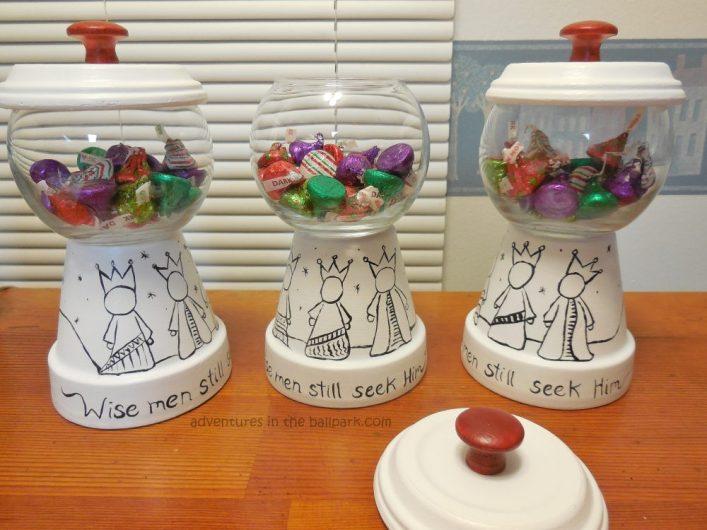 3 wise men candy jar