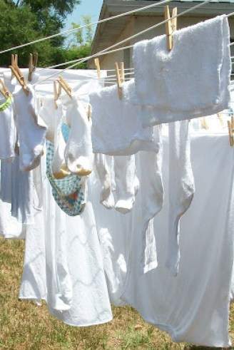 Hanging clothes on the line is a great way to save money
