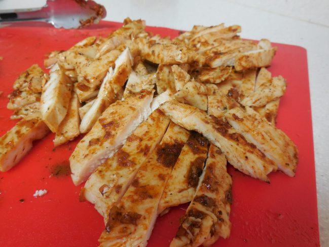 sliced chicken enchiladas