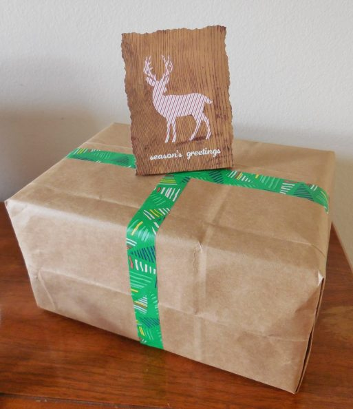 Don't buy wrapping paper - recycle paper bags for creative and rustic wrapping