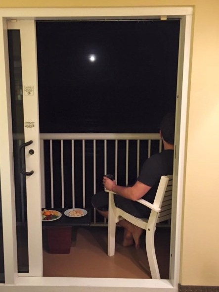 moon on balcony