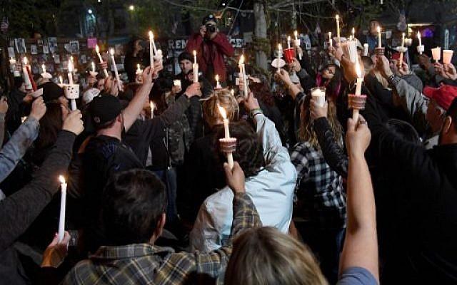 candle light vigil for Parkland