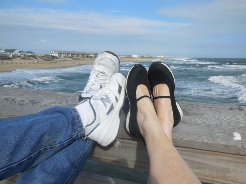 shoes on the pier